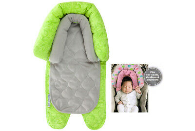 Green 2 In 1 Infant Baby Newborn Head/Neck Support For Car Seat Carrier Stroller