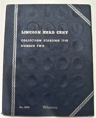 Complete Lincoln Wheat Cent Collection 1941-1958 Pds & Album-555