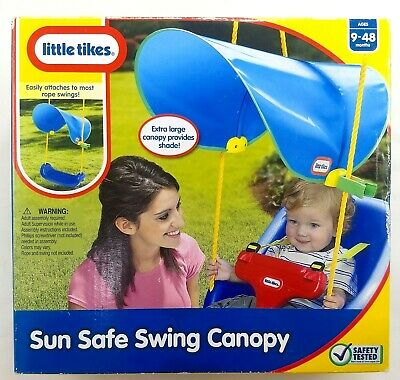 LITTLE TIKES Sun Safe Rope Swing Canopy NEW Toddler Clip On Large Blue Shade  sc 1 st  PicClick & LITTLE TIKES SUN Safe Rope Swing Canopy NEW Toddler Clip On Large ...