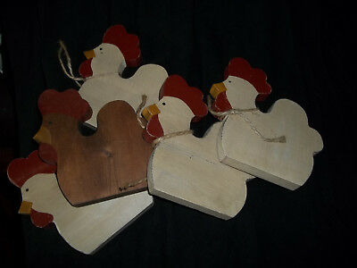 WOODEN SHELF SITTERS-ANIMALS - LOT of 10 Pieces