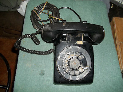 Vintage Western Electric Bell System C/D 500 Black Rotary Dial Desk Telephone