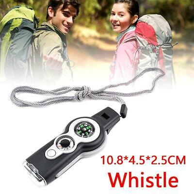 7 in1 Hiking Camping Emergency Survival Gear Whistle Compass Thermometer 2019