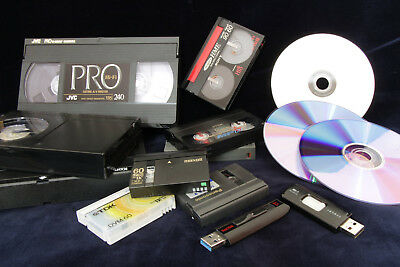 Magnetic Video Tape Footage Transfer Service to DVD Video File VHS Hi8 Betamax