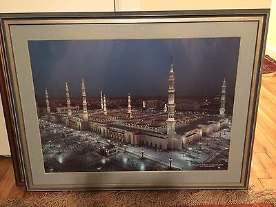 Large Islamic Art Print • Framed Print Of Medina In Beautiful Frame
