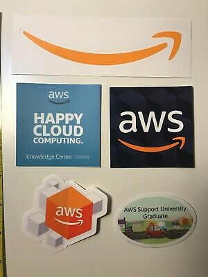 Set of Amazon Web Services AWS Stickers lot of new decals for your laptop car