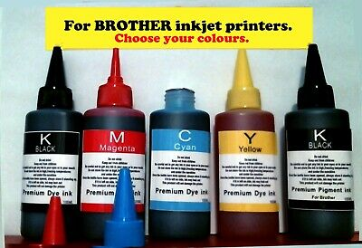 Refill bulk ink for Brother printer cartridges or CISS