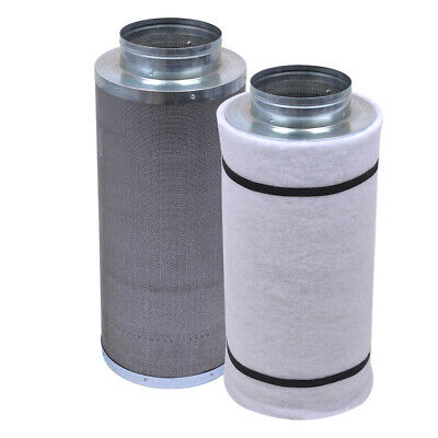 """6"""" 450CFM Hydroponic Air Carbon Filter Odor Control Scrubber for Inline Exhaust"""