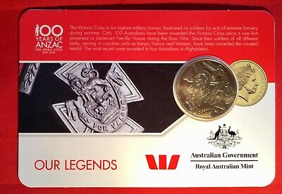 2016 Anzac To Afghanistan 25 Cent Australian Coin Carded Unc. Our Legends