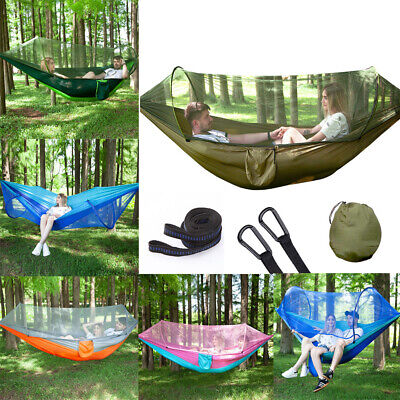 """Durable Hammock with Mosquito Net for Outdoor Camping Traveling L102.3/""""xH55/"""" US"""