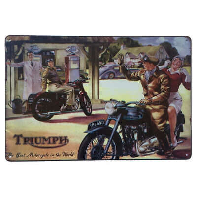Triumph Best Motorcycle Sign 30x20cm - British Motorcycle Bike Sign Man Cave
