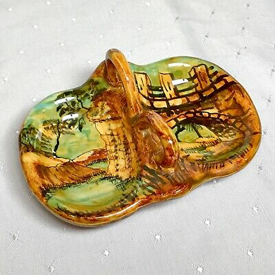 APCV Armin Ptak & Christian Vocke Signed Ring Handled Sectioned Pottery Dish