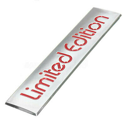 3D Red Limited Edition Logo Emblem Badge Plastic Sticker Decal 10.4cm x 2.2cm
