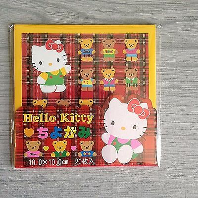 Vintage Sanrio 1993 Hello Kitty Origami Paper Crafts Yuzen Chiyogami 20 Sheets