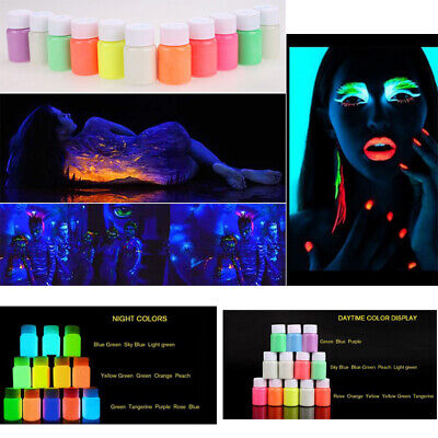 25g DIY Craft Bright Acrylic Pigment Glow In The Dark Luminous Paint  Party DIY