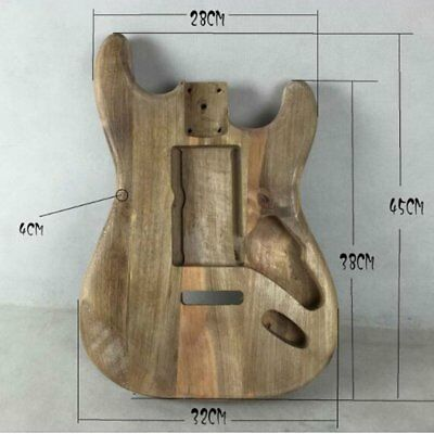 Unfinished DIY Guitar Body Maple Body For Fender ST Style Guitar EH◎