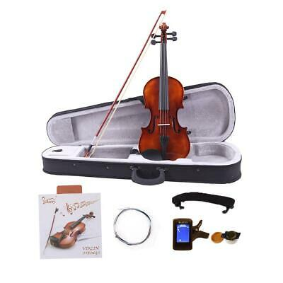 4/4 Full Size Spruce Wood Acoustic Violin with Case Bow Extra Strings High Quali