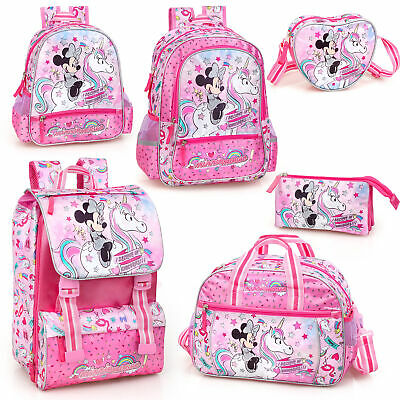 Disney Minnie Mouse Unicorn Backpack School Bag Travel Rucksack Kids Lunch Bag