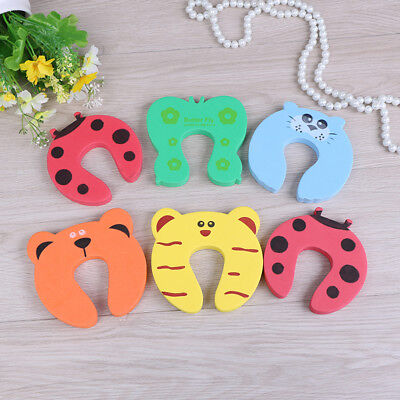 6X Baby safety foam door jammer guard finger protector animal design ZY