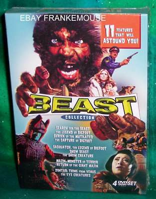 New Retromedia Rare Oop Beast Collection 4 Disc 11 Feature Movie Boxed Dvd Set