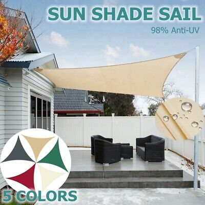 Waterproof Sun Shade Sail Garden Patio Awning Canopy Sunscreen 98% UV Block NEW