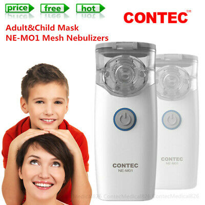 Portable Mesh Nebulizer Inhalers Adult Kid two masks Handheld Nebulisers NE-MO1