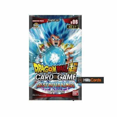 Dragon Ball Super Card Game Destroyer Kings Sealed Booster Box of 24 Packs B06 Z