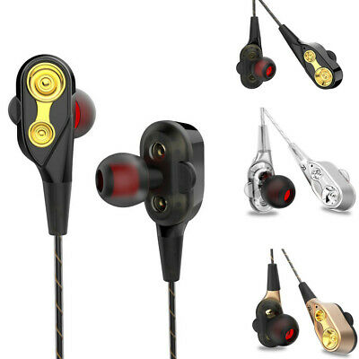 HIFI In-Ear Super Bass Stereo Earphone Earbuds Headphone Sport Headset With Mic