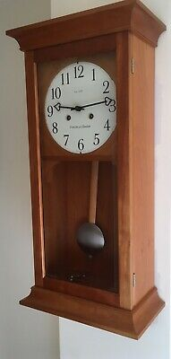Old Stock,ex Display,comitti Bell Striking Cherry Finish Shaker Style Wall Clock