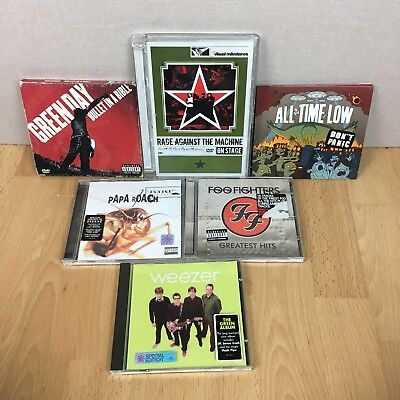 CD Bundle Rock Punk Foo Fighters Weezer Green Day RATM All Time Low Papa Roach