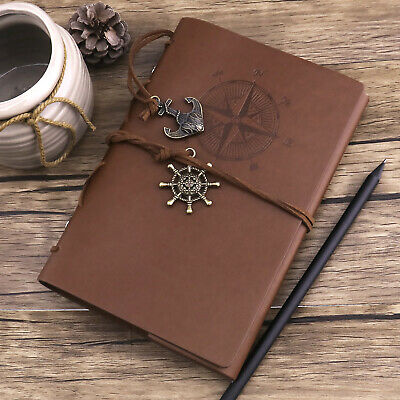 Vintage Classic Refillable Leather Journal Travel Notepad Schedule Book Notebook
