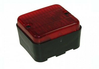 AJBA Trailer Rear Fog Lamp Unit Complete with Bulb - Square Surface Mounted