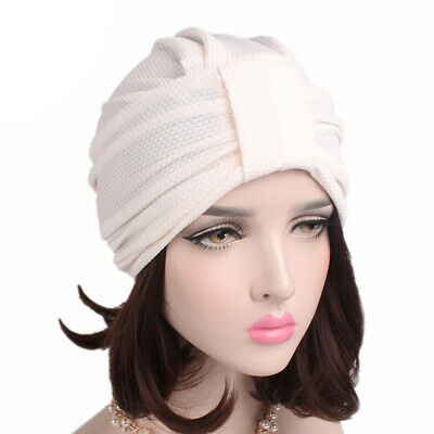Women's Fashion Elastic Cotton Hat Simple Turban Wrap Soft Cap Gifts for Girl BE