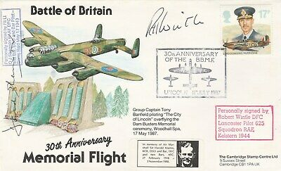 Battle of Britain cover signed David Shannon 617 Squadron Dambuster +  Wintle