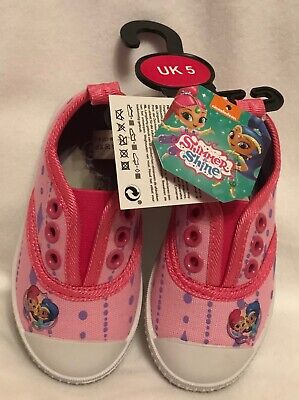 Girls - Slip On - Shimmer & Shine Canvas Shoes/Pumps - Pink - Size 5 - Brand New