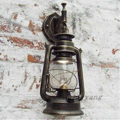 3 Colors Antique Vintage Style Thrift Retro Lantern Wall Lamp Lights Nostalgia