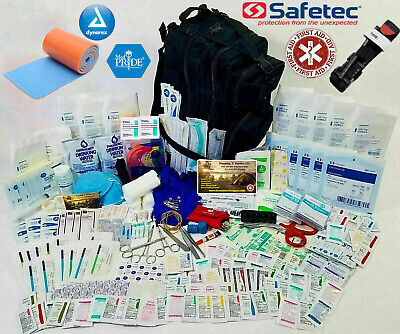 393pcs FULLY STOCKED FIRST AID TRAUMA KIT - SURVIVAL BUG OUT BAG EMT EMS MEDICAL