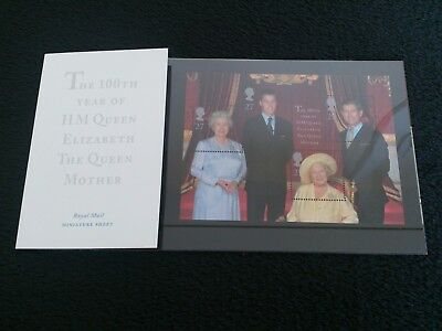 Presentation Pack M04 The 100th year of the Queen Mother Royal Mail  GB 2000