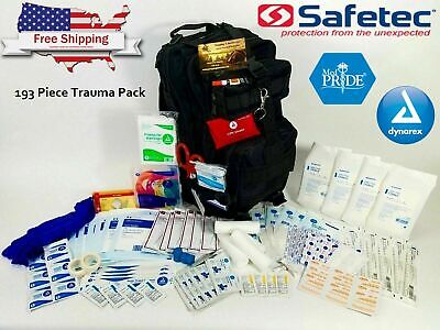 First Aid Trauma Kit - Waterproof Tactical Backpack - Surgical Medical Supply
