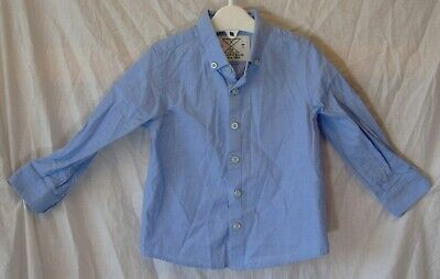 Baby Boys Next Blue Long Sleeve Smart Casual Formal Shirt Age 18-24 Months