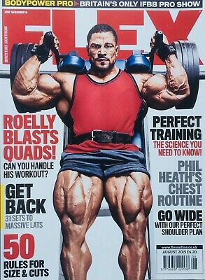 FLEX Joe Weiders BODY BUILDING Magazine August 2015