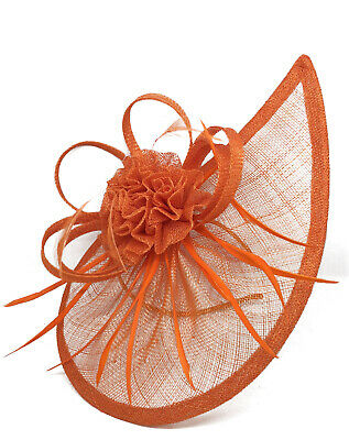 Elegant Large Hat Fascinator With Detachable Headband And Clip