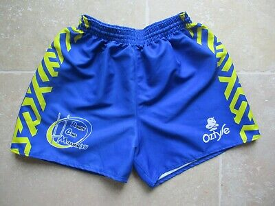 Short Rugby Club MIRAMAS XV bleu OZTYLE collection made in France L