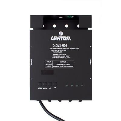 Leviton 4-Channel Programmable Dimmer Pack D4DMX-MD5 FAST SHIP! B29