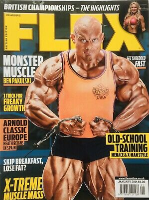 FLEX Joe Weiders BODY BUILDING Magazine January 2014