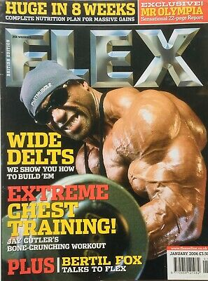 FLEX Joe Weiders BODY BUILDING Magazine January 2006