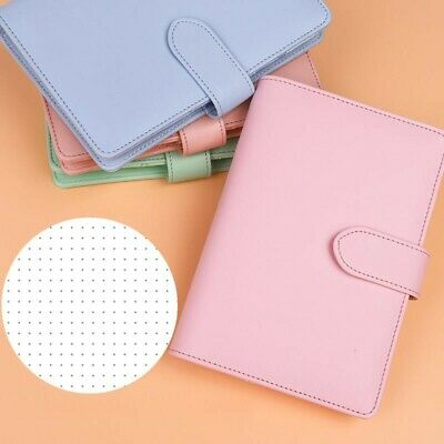 Pretty Pastel Pink Leather Dotted Grid Notebook A6 Ringbound for Girls and Women