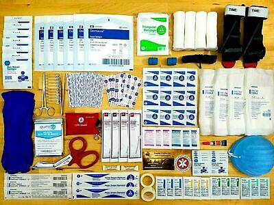 First Aid Kit All Purpose Emergency Trauma Outdoor Travel Bag Medical Suture
