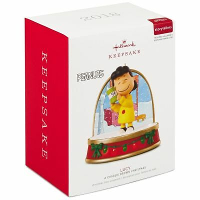 2018 Hallmark LUCY Peanuts A CHARLIE BROWN CHRISTMAS Storyteller ORNAMENT