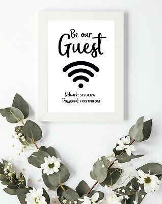 #51 Internet Wifi Quote Be our Guest Bedroom Living Room Wall Decor Art A4 A3 A5