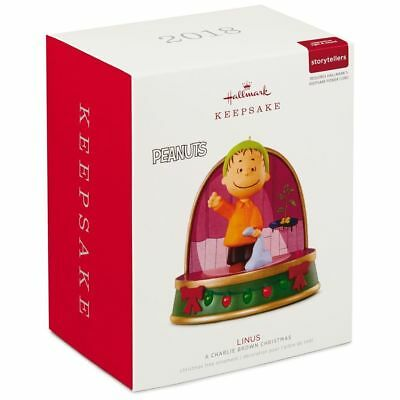 2018 Hallmark LINUS Peanuts A CHARLIE BROWN CHRISTMAS Storyteller ORNAMENT